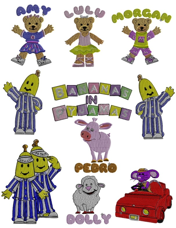 Bananas in Pyjamas Set