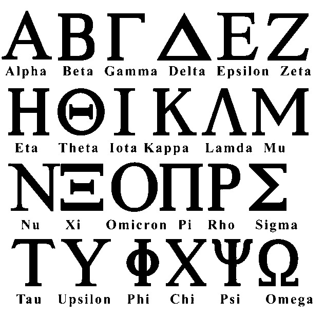 Greek Alphabet Fraternity/Sorority Font - Set of 72 [gas0001] - $9.99 ...
