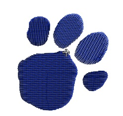 Blues Clues - Paw Print (medium)