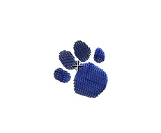 Blue Clues - Paw Print small