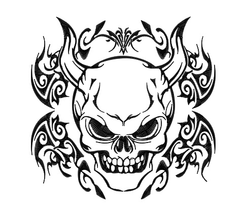 Tribal Skull - Demon