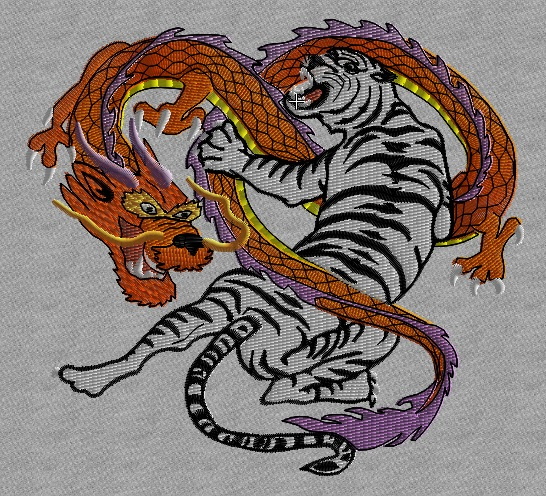 Tiger and Dragon - set of 4